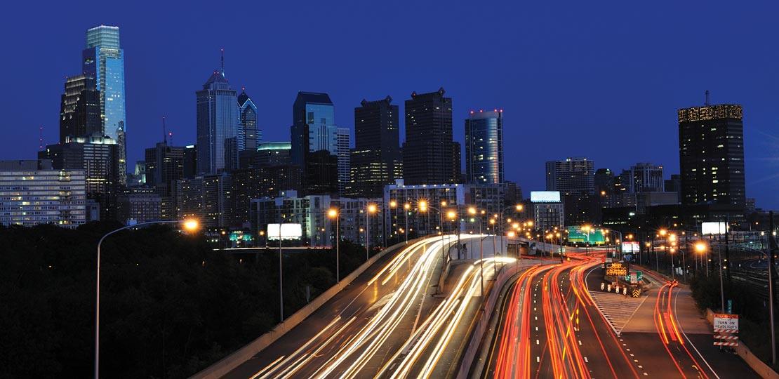 Philadelphia Traffic from I95